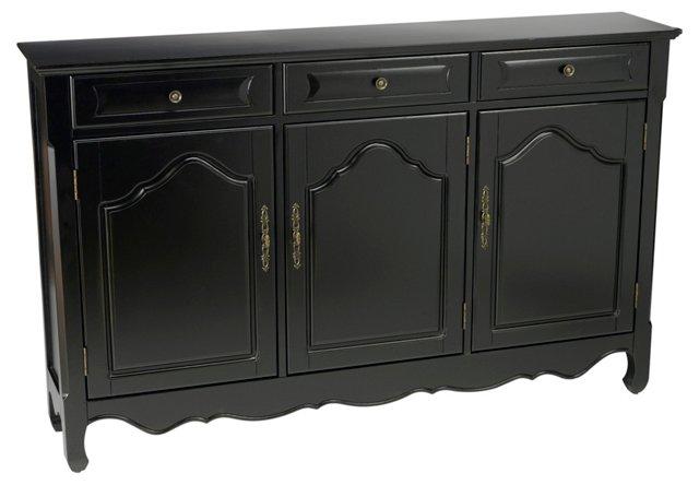 Jenson 3-Door Cabinet, Black