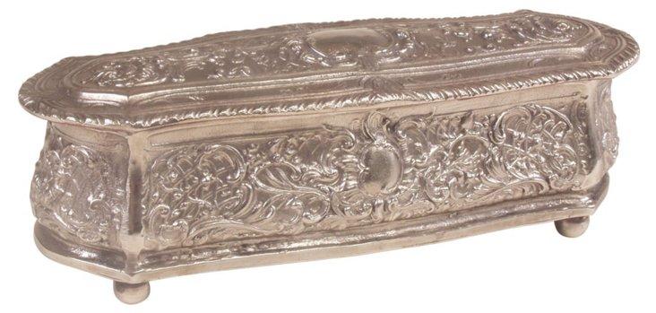 Antique Silver Decorative Box w/ Hinge