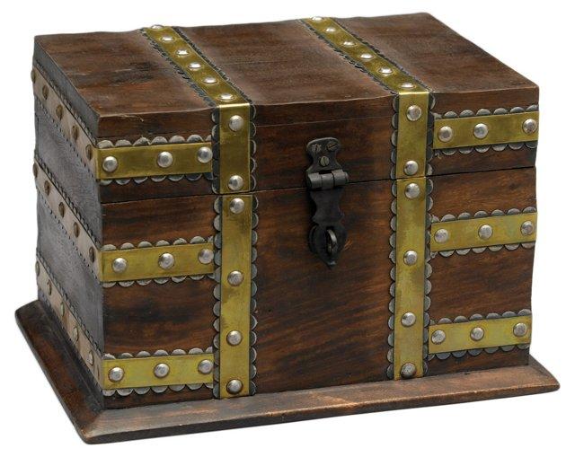 Brass & Iron Fitted Box w/ Studs