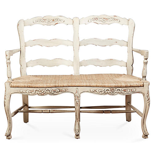 Catherine 2-Seat Bench, Parchment