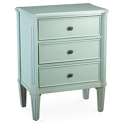 Alyssa Nightstand, Blue