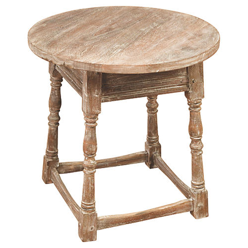 Hazel Side Table, Weathered Oak