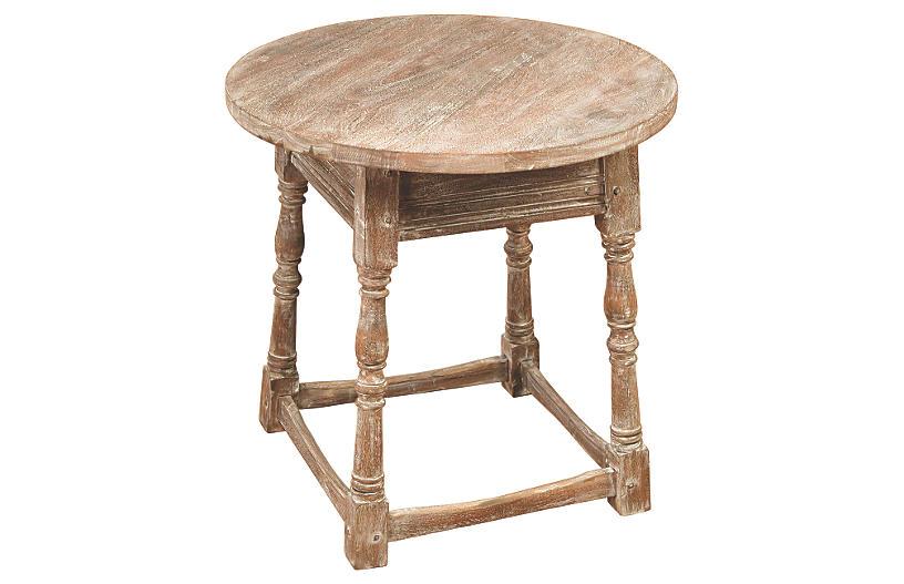 Hazel Side Table, Weathered Oak