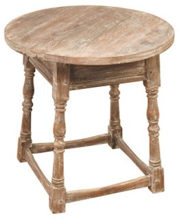 Hazel Side Table, Weathered Oak - a beautiful French country accent for home!