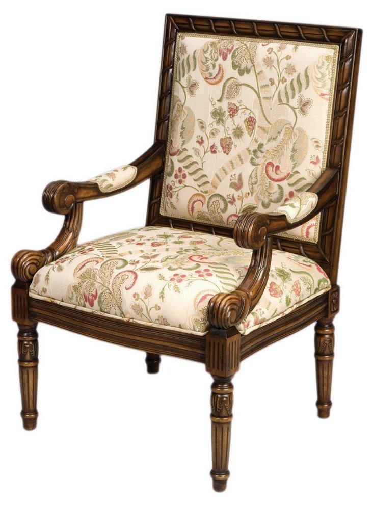 Adams Floral Armchair