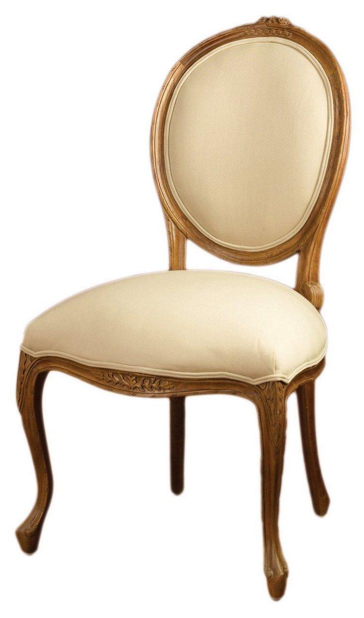 Barnes Linen Side Chair