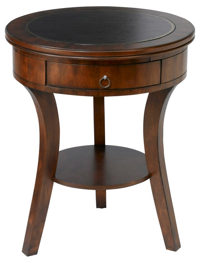 Laura Round Nightstand, Cherry