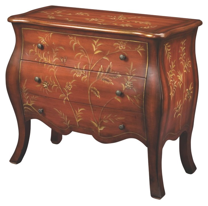 Violet Bombé Chest, Dark Honey/Tan/Gold