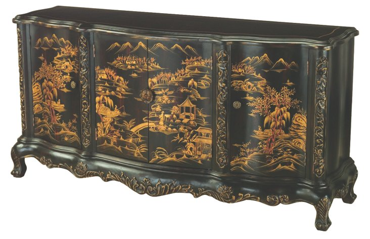Irving Sideboard, Black/Gold