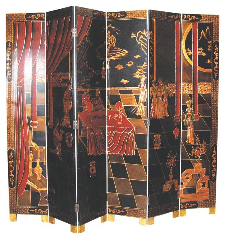 6-Panel Chinoiserie Screen