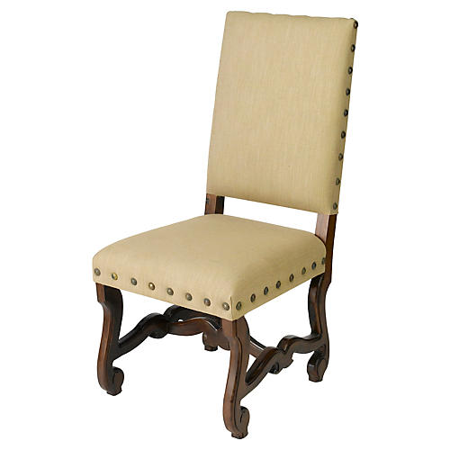 S/2 Ava Side Chairs, Beige