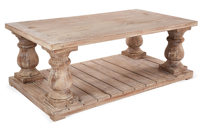 Brooks Coffee Table, Weathered Sand