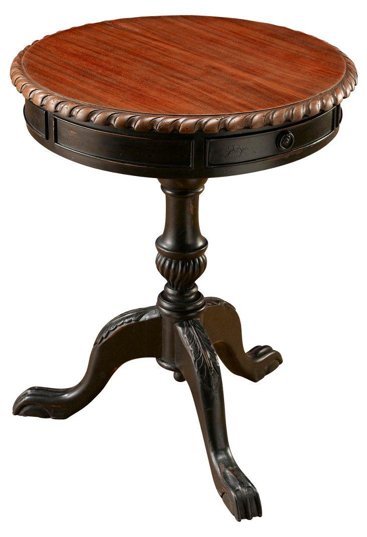Mel Side Table, Parchment