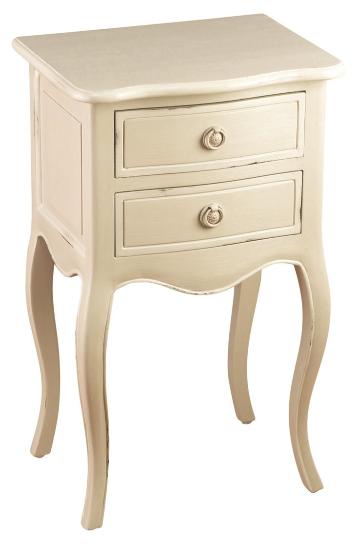 Delaney Nightstand, Parchment
