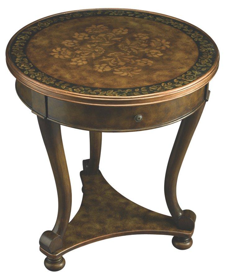 Hannah Lamp Table, Brown/Moss