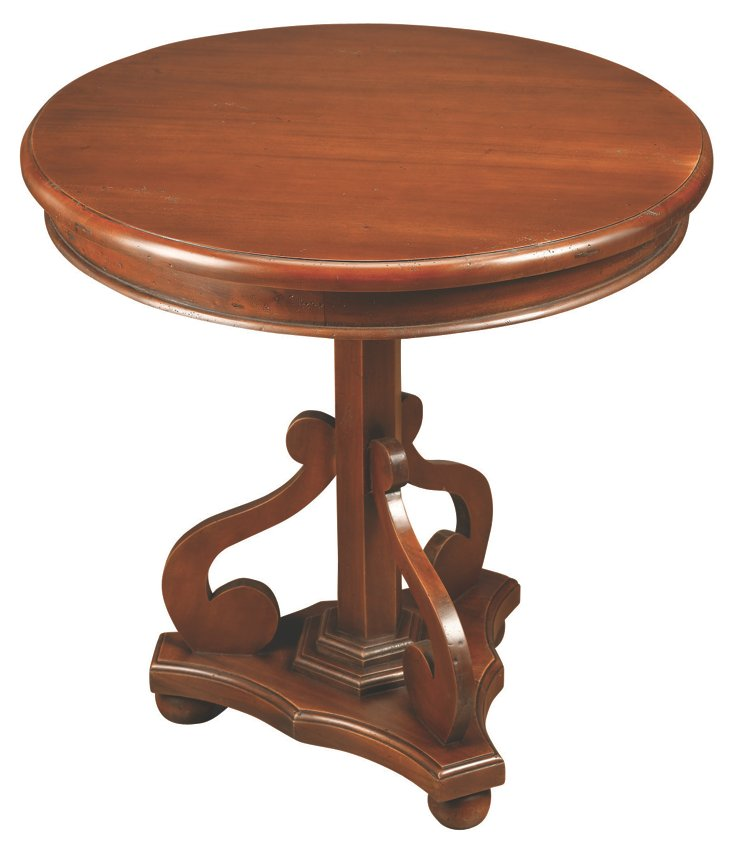 Victor Lamp Table,  Walnut