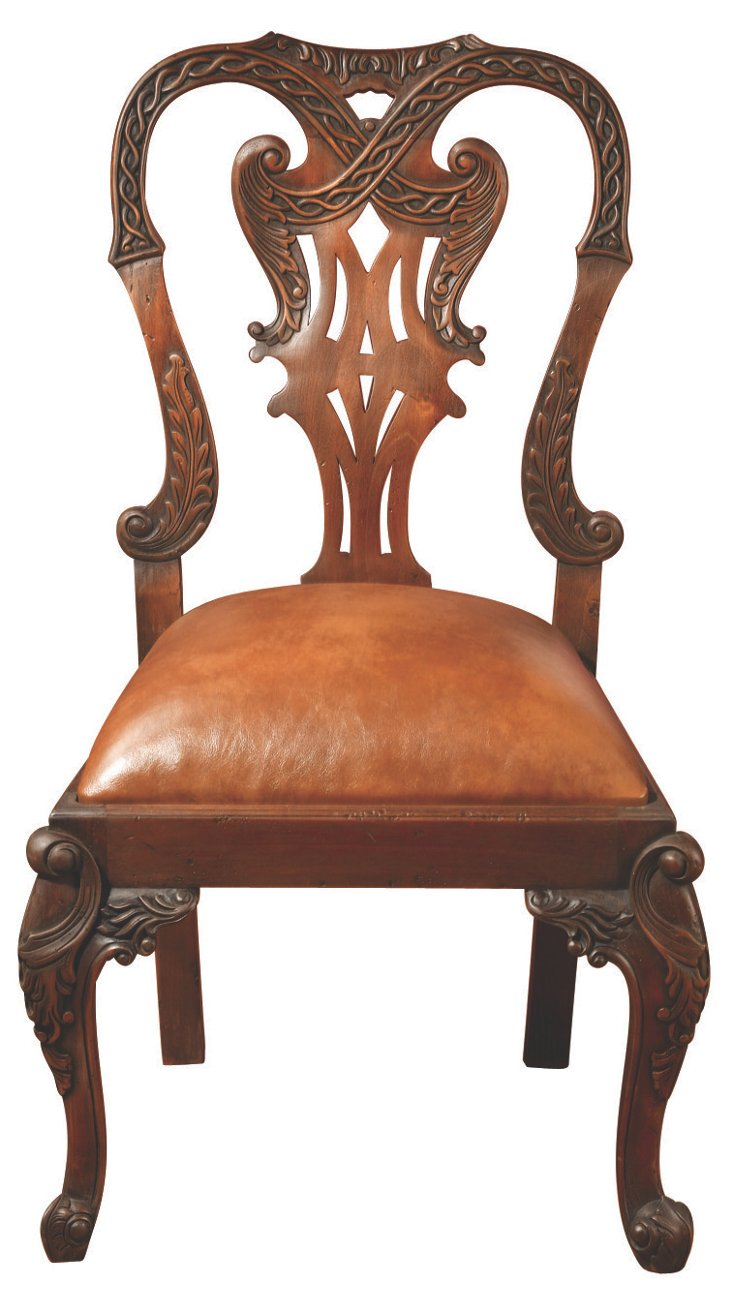 * Chippendale Side Chair, Caramel