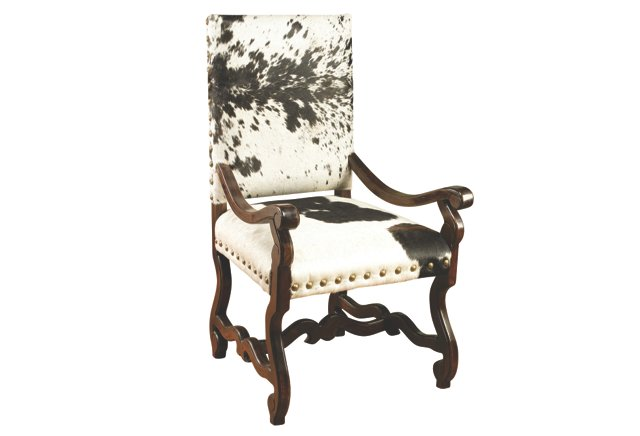 Sawyer Cow Hide Armchair