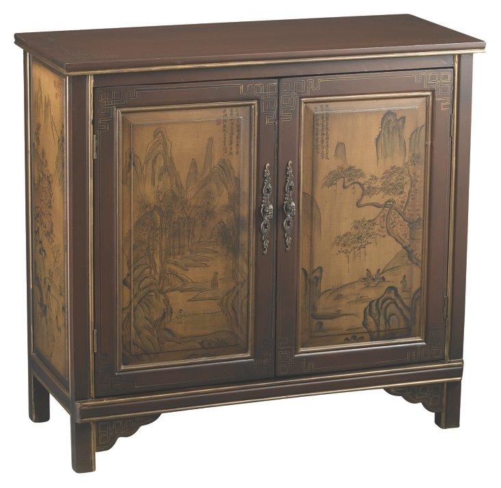 Vivian 2-Door Cabinet, Brown