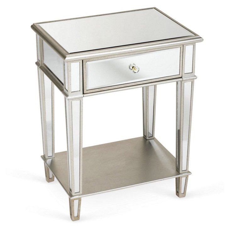 Olivia Mirrored Lamp Table, DO NOT USE