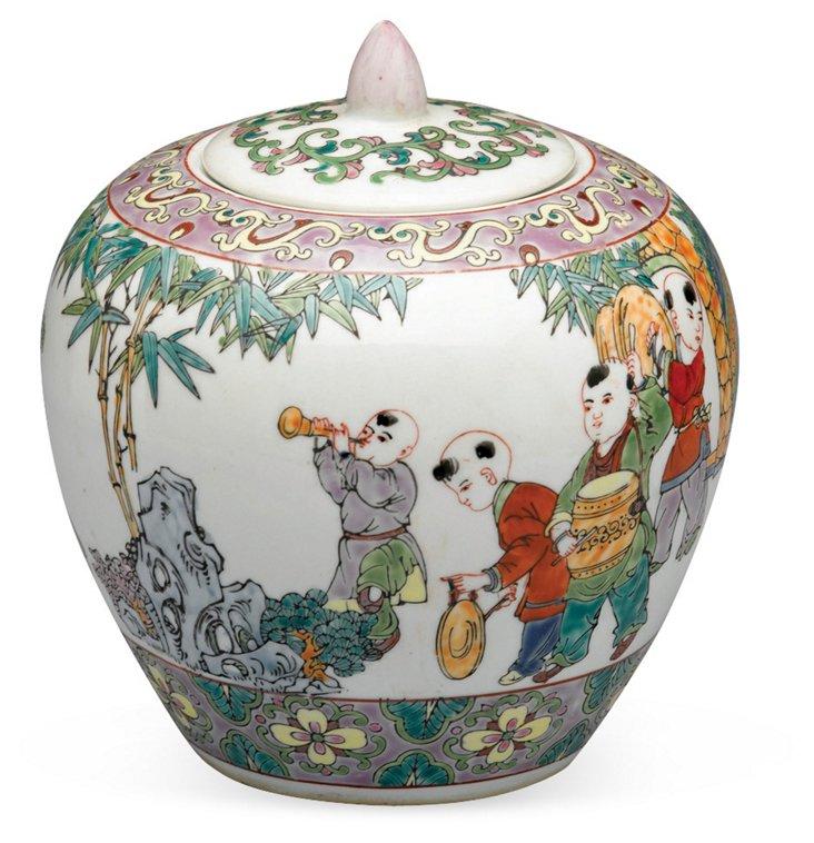 "7"" Music Painted Jar"