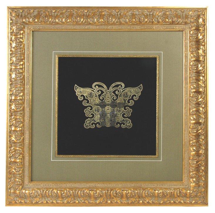31x31 Framed Medallion, Butterfly