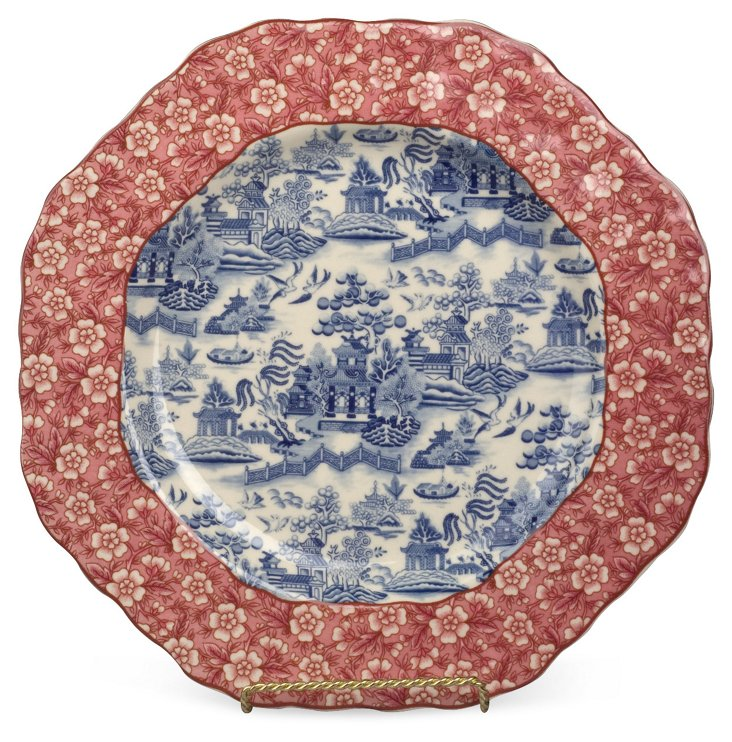 """10"""" Toile & Floral Tray"""