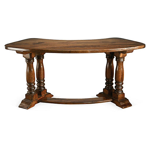 Willa Demilune Desk, Pecan