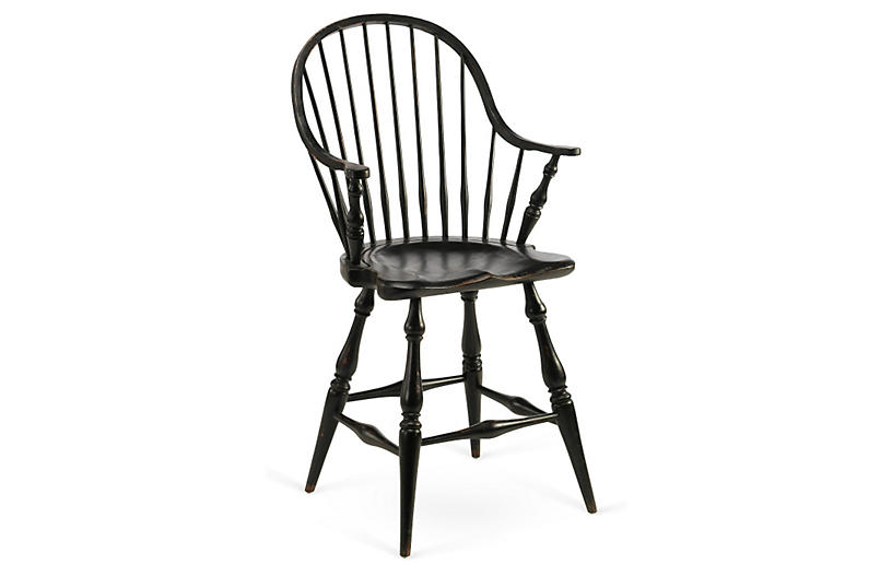 Windsor Counter Stool, Black