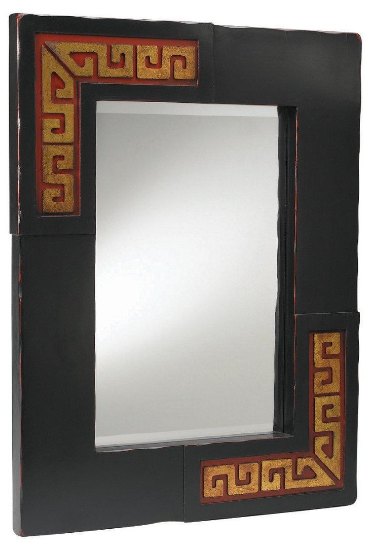 Aurelia Mirror, Black/Gold