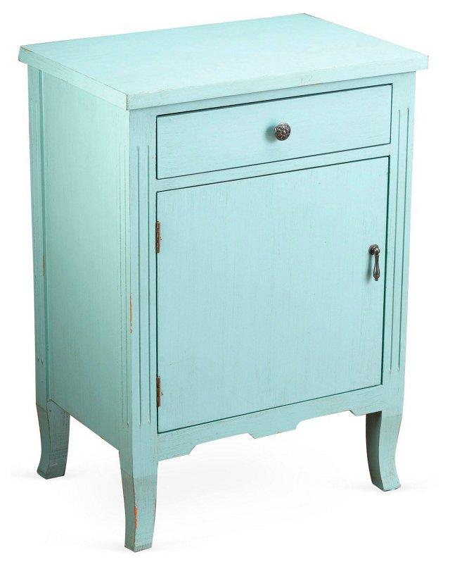 Nelly 1-Door Cabinet, Light Blue