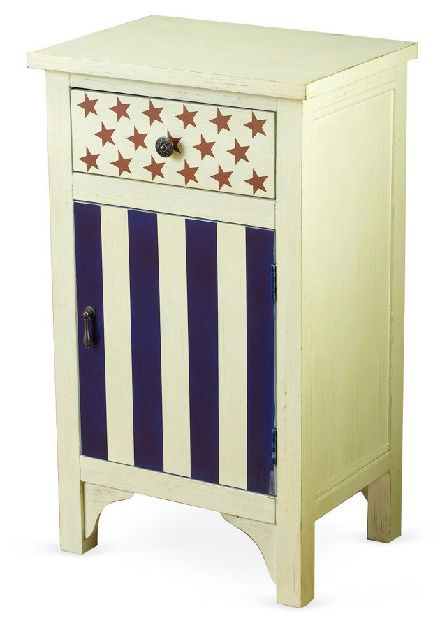 Stars and Stripes Cabinet, Red/White