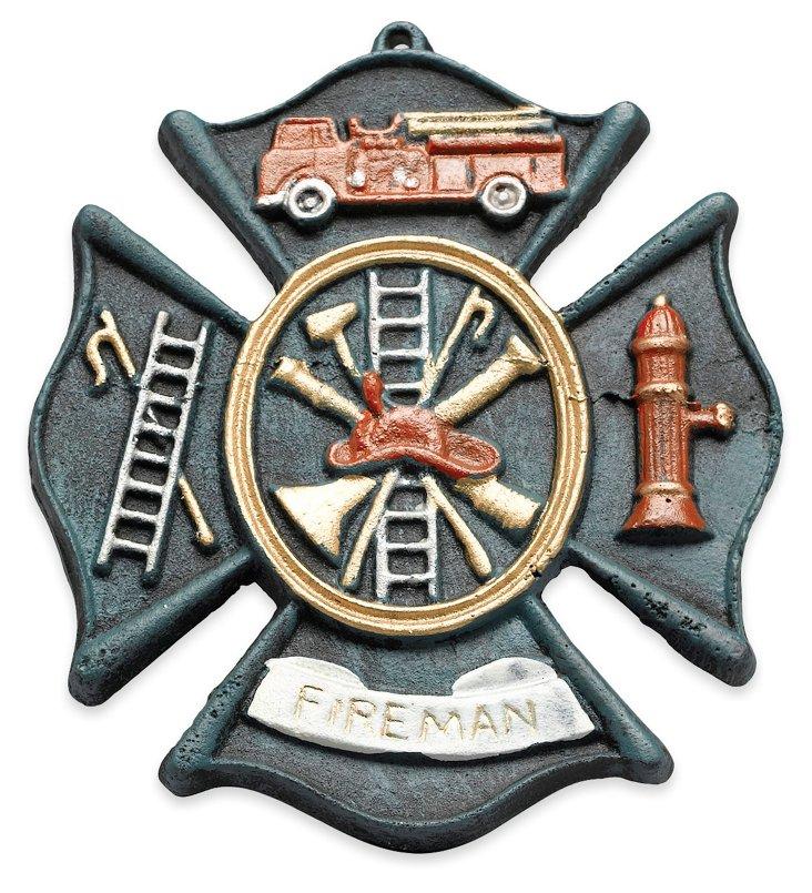 "9"" Fireman Plaque"