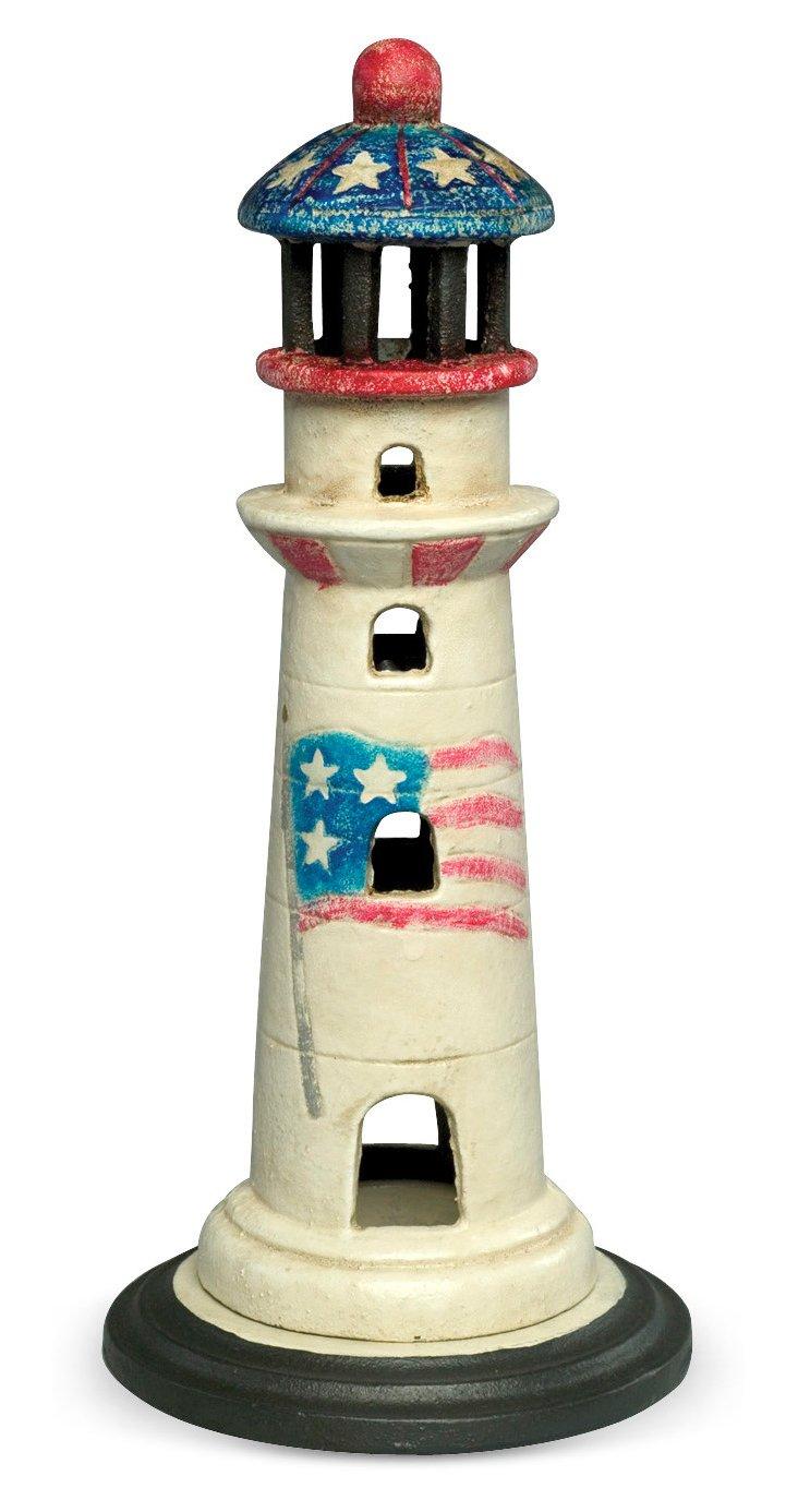 "9"" Lighthouse Candleholder"