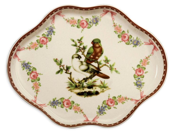 Porcelain Tray Bird Design