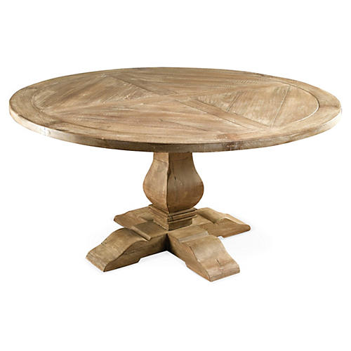 Clara Round Dining Table, Weathered Sand