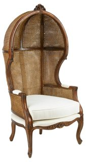 Charmant Porter Canopy Chair, Walnut   Accent Chairs   Chairs   Living Room    Furniture | One Kings Lane