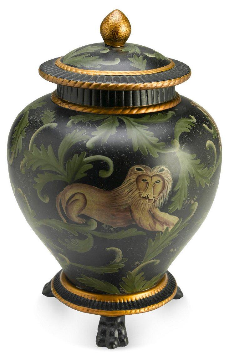 Lion Jar