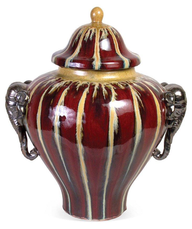 "21"" Elephant Handle Jar"