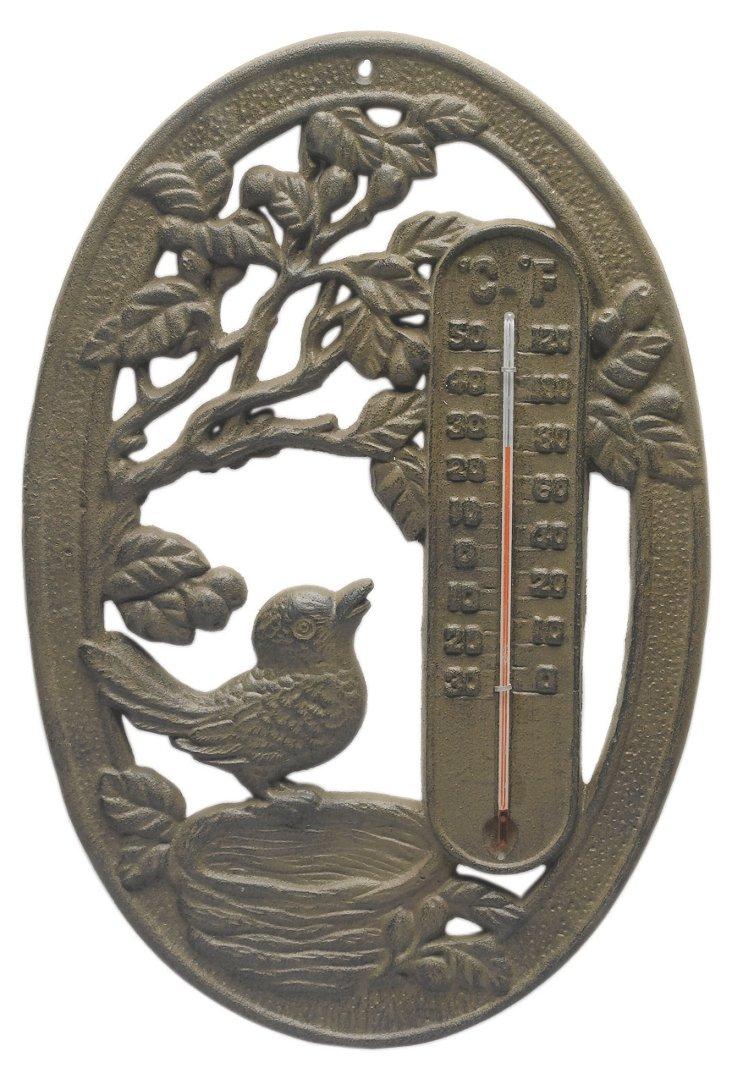 Cast-Iron Bird Thermometer