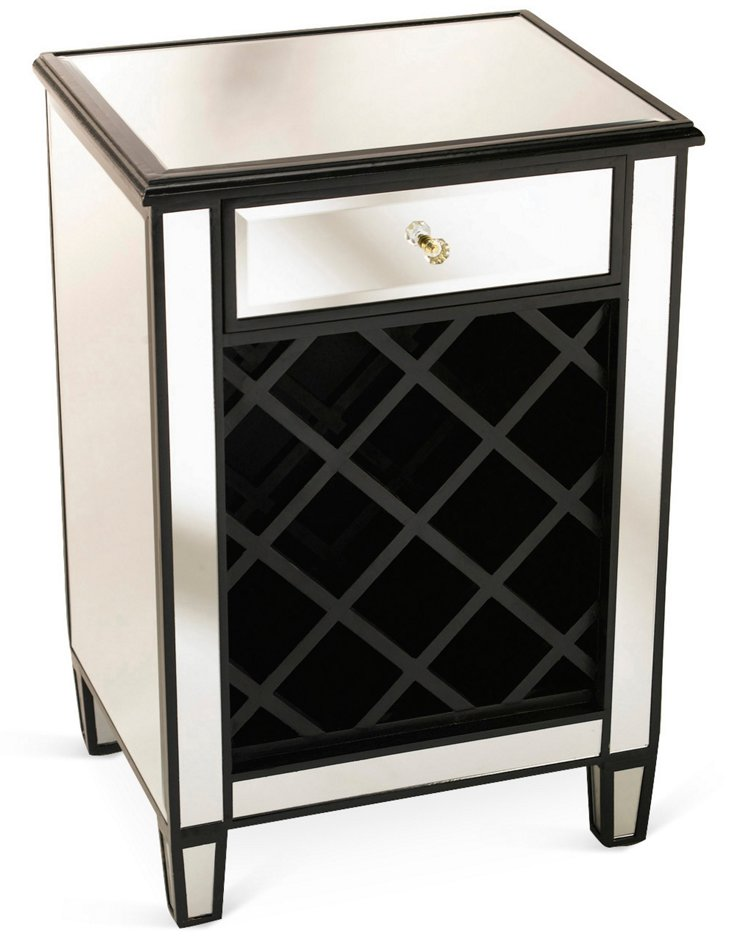 Frances Wine Cabinet, Black