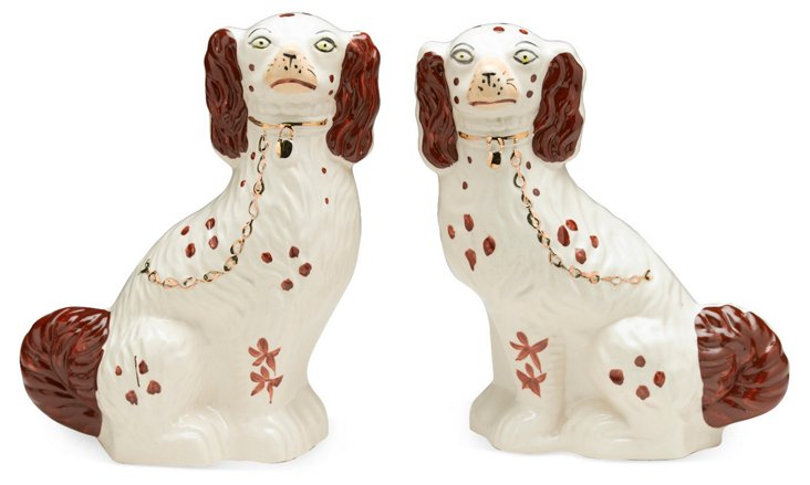 Pair of Staffordshire Dogs, Brown