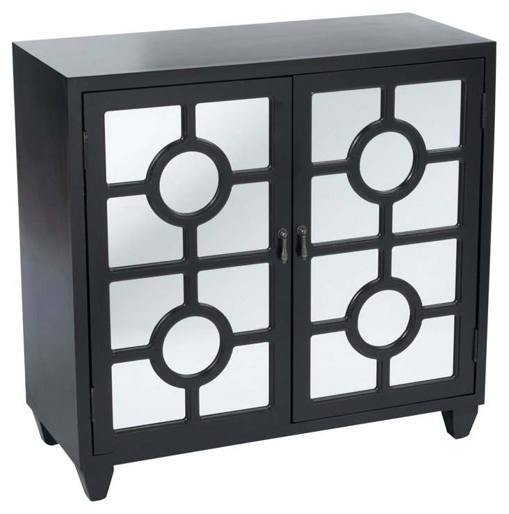 Lance 2-Door Cabinet, Black
