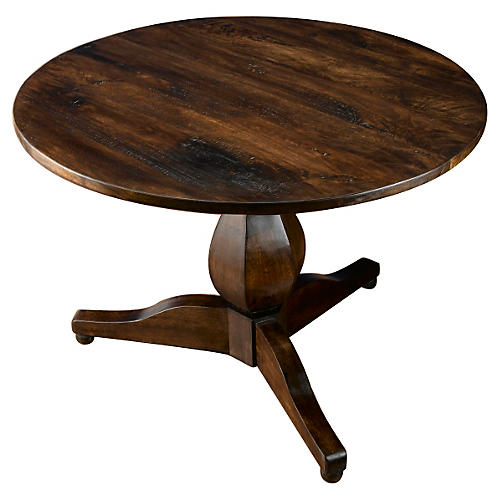 "Harper 43"" Round Dining Table, Pecan"