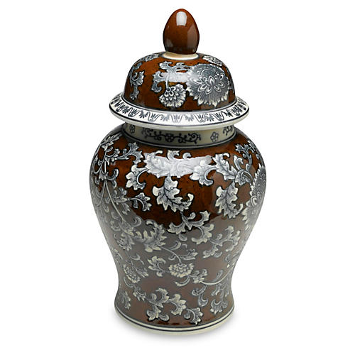 "18"" Florent Ginger Jar, Brown/Gray"