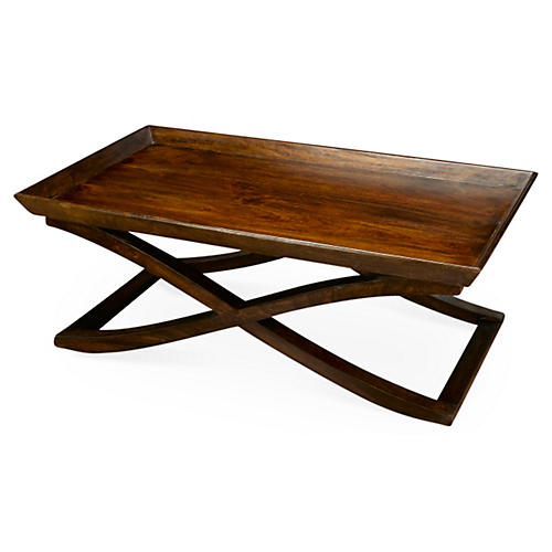 Vesper X-Base Coffee Table, Pecan