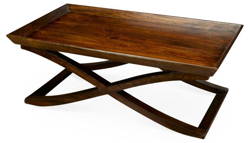 Vesper X Base Coffee Table Pecan Tables Living Room Furniture One Kings Lane
