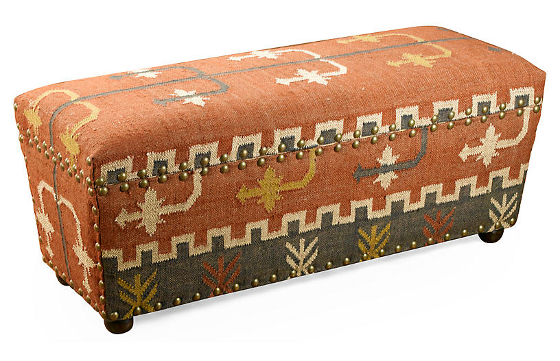 Desi Kilim Storage Bench