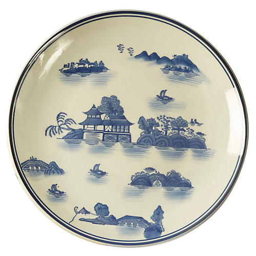 """15"""" Chinoserie Decorative Plate"""