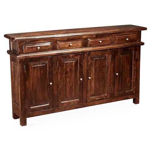 Stanyan 4-Door Cabinet, Pecan